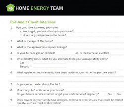 Client Interview Form